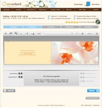HTML Editor des Online Print Shops