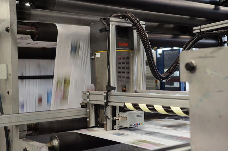 Kodak Prosper S30 integriert in manroland Drucksysteme bei Axel Springer