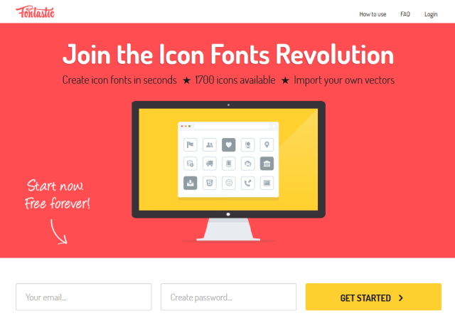 """Mit dem Dienst """"fontastic.me"""" kann man kostenfrei und online Icon Fonts erstellen Quelle: drweb.de"""