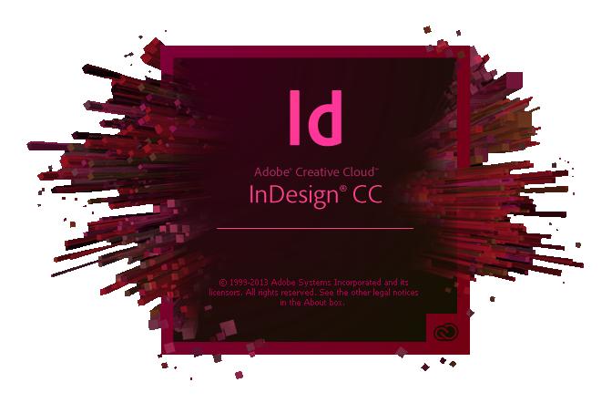 Startbildschirm von Adobe InDesign CC