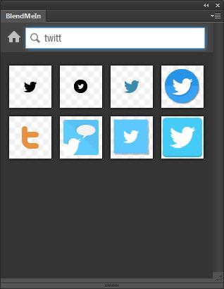 """Das Photoshop-Plugin """"BlendMe.In"""" ermöglicht die Suche nach Icons direkt aus Photoshop heraus. Bild: Smashing Magazine"""