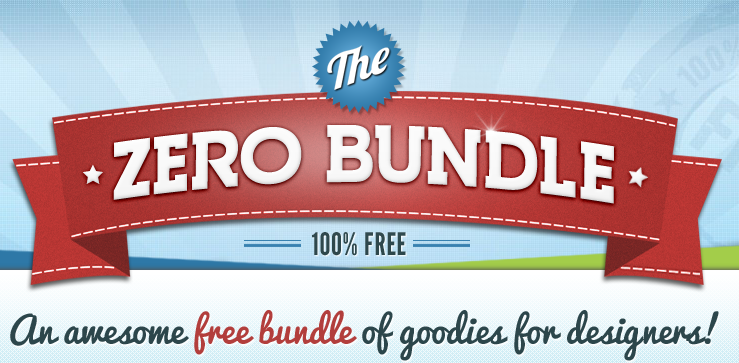 ZeroBundle  A great bundle of freebies for designers