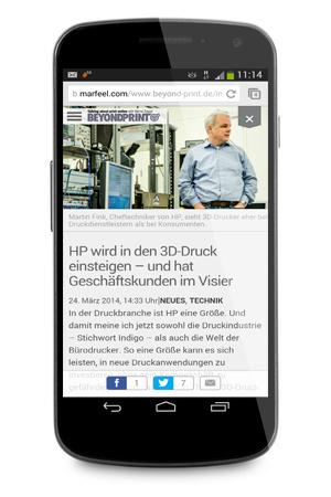 Die Umsetzung von Marfeel für beyond-print.de