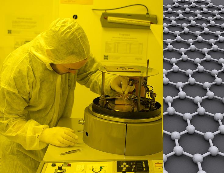 Der neue Werkstoff Graphen könnte bals die Labors verlassen und zum Kommerziellen Einsatz kommen (Bild: Alex Savchenko Centre for Nanoscience)
