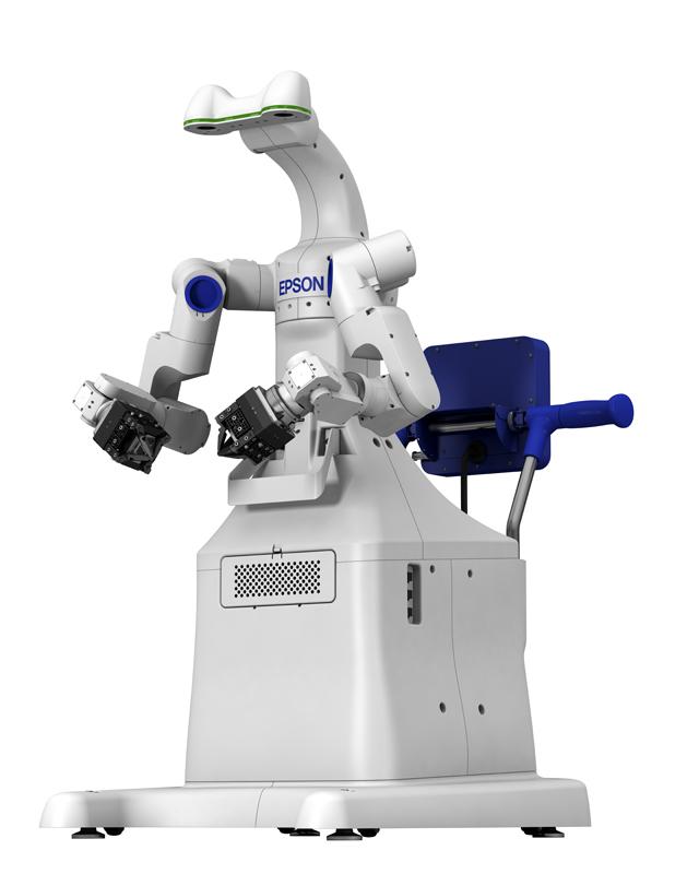 Prototyp eines autonomen, zweiarmigen Industrieroboters (Abb.: Seiko-Epson)