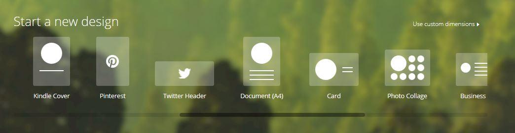 Designs werden je nach gewünschter Publikationsform bereitgestellt.