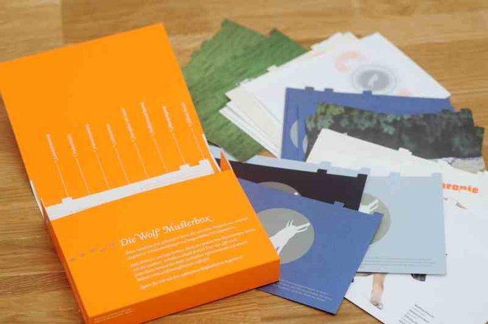 Offline marketing f r onlinedruckereien musterboxen - Wolf manufaktur ...