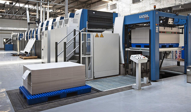 KBA sieht viel Automatisierungspotential bei der Papierlogistik industrieller (Online)Druckereien (Abb.: KBA)