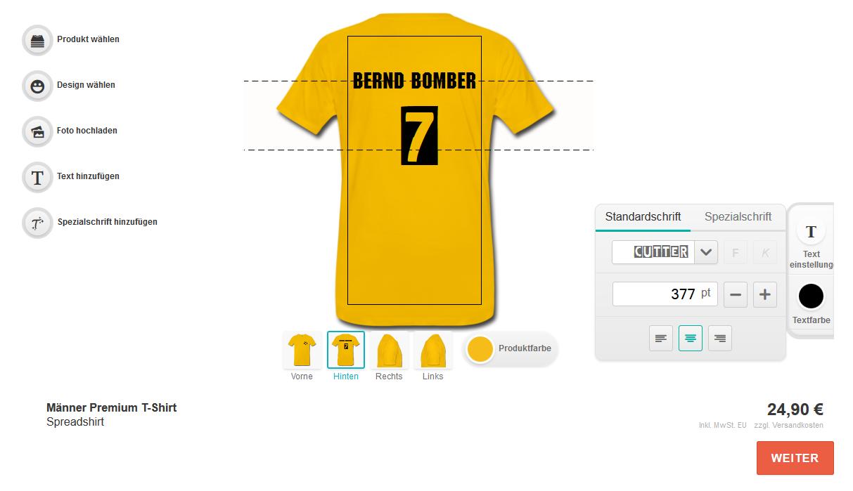 teamshirts: Editor