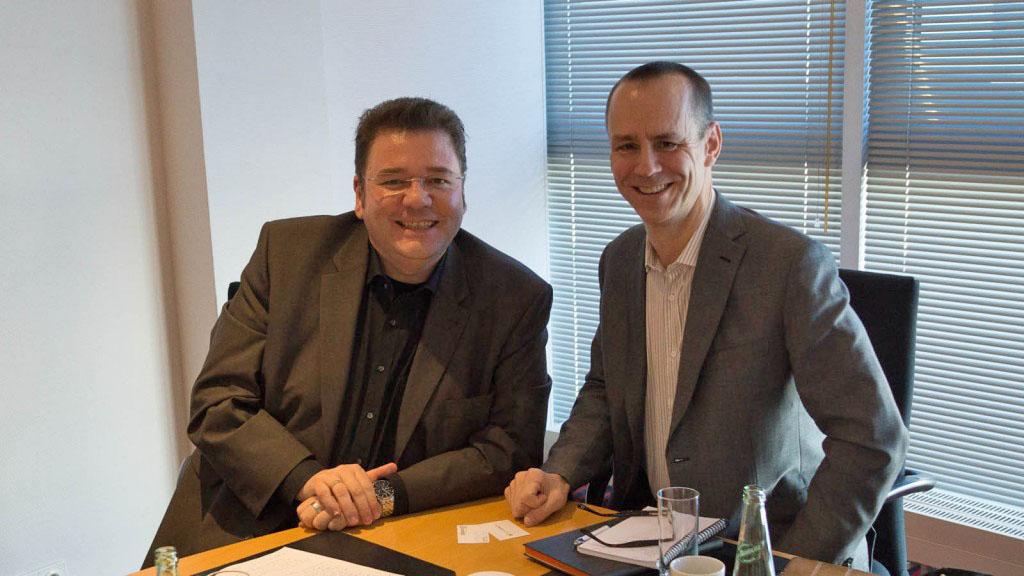 Bernd Zipper (links), Rober Keane (rechts)