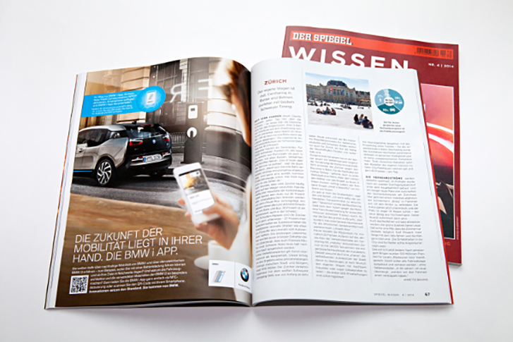 Tamoco setzt für BMW NFC-Technik in Print ein. (Abb.: Tamoco)