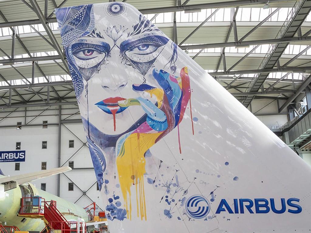 Airbus entwickelte im Hamburger Werk die Inkjet-Technologie zur Einsatzreife. (Abb.: Airbus Industries)