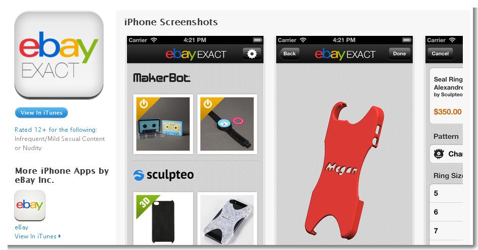 Ebay und Amazon verwendeten vergleichsweise viel Mühe auf Mass Customization im 3D-Druck-Bereich.