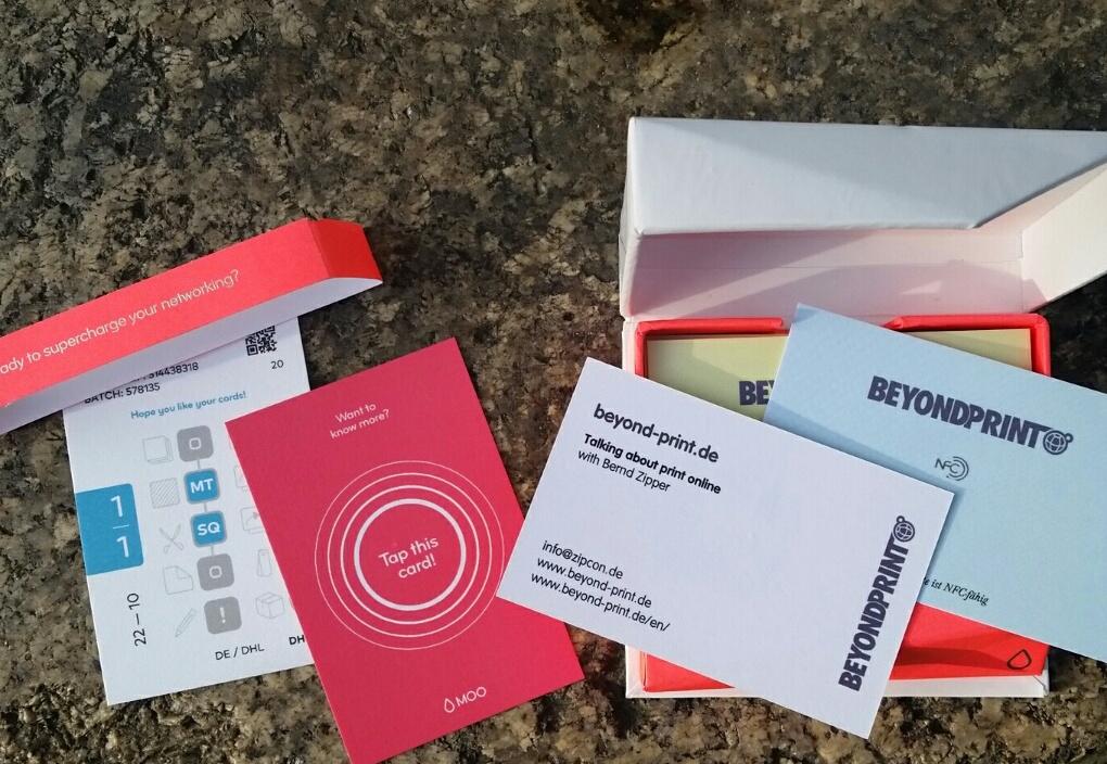Die Digital Oldschool Verbindung Nfc Visitenkarten Von Moo