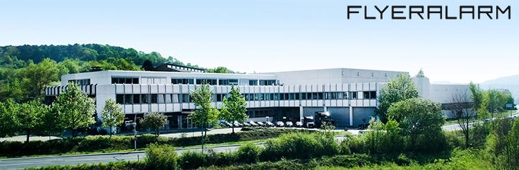 Flyeralarm Firmenzentrale in Würzburg, von hier aus wird Regie geführt.