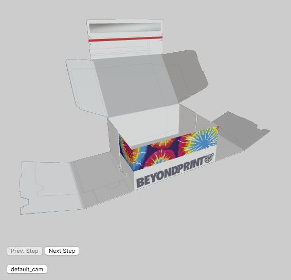 3D-Vorschau des Editors von printmate.de
