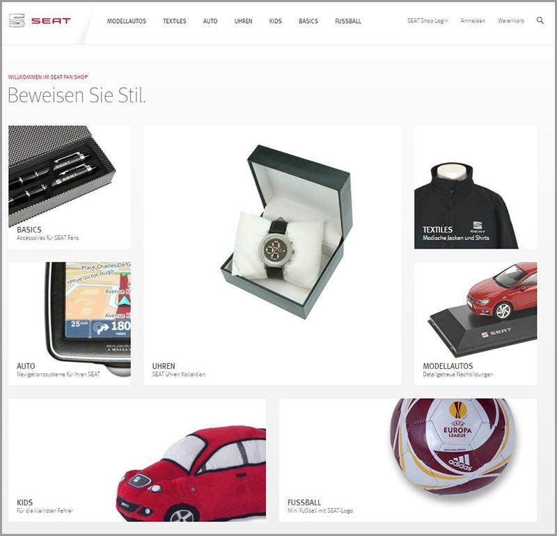 Seat traut sich und hat mit Magento gemeinsam schon auf Magento V2 umgebaut. (Abb: www.shopworld.seat.de)