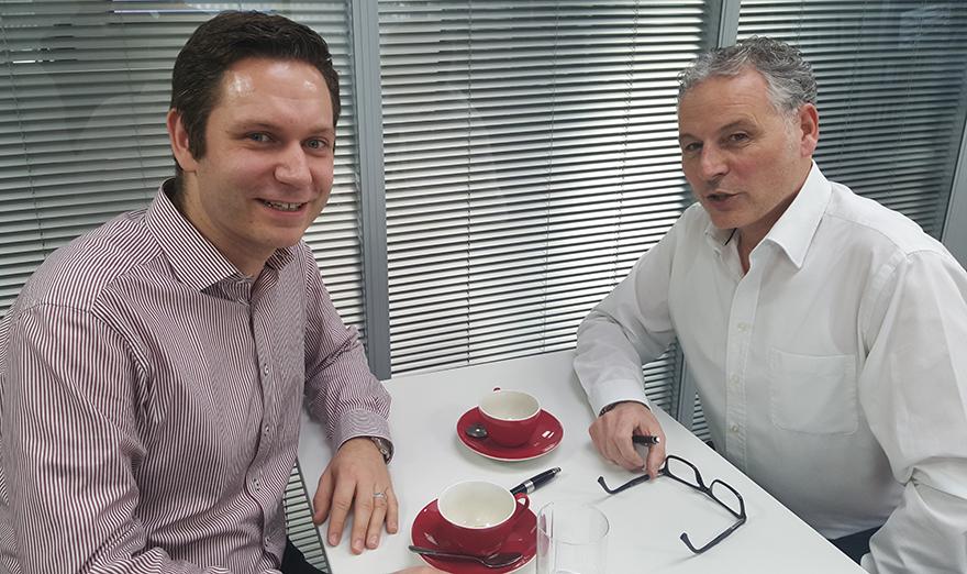 Andreas Ullmann (Presse-Druck- und Verlags-GmbH) und Norbert Hettrich (Druckhaus Weppert)