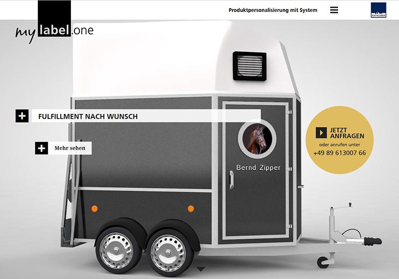 Anfang 2016 stellt die Rathgeber-Gruppe die erste Version von mylabel.one vor – eine Plattform zur Produktpersonalisierung.