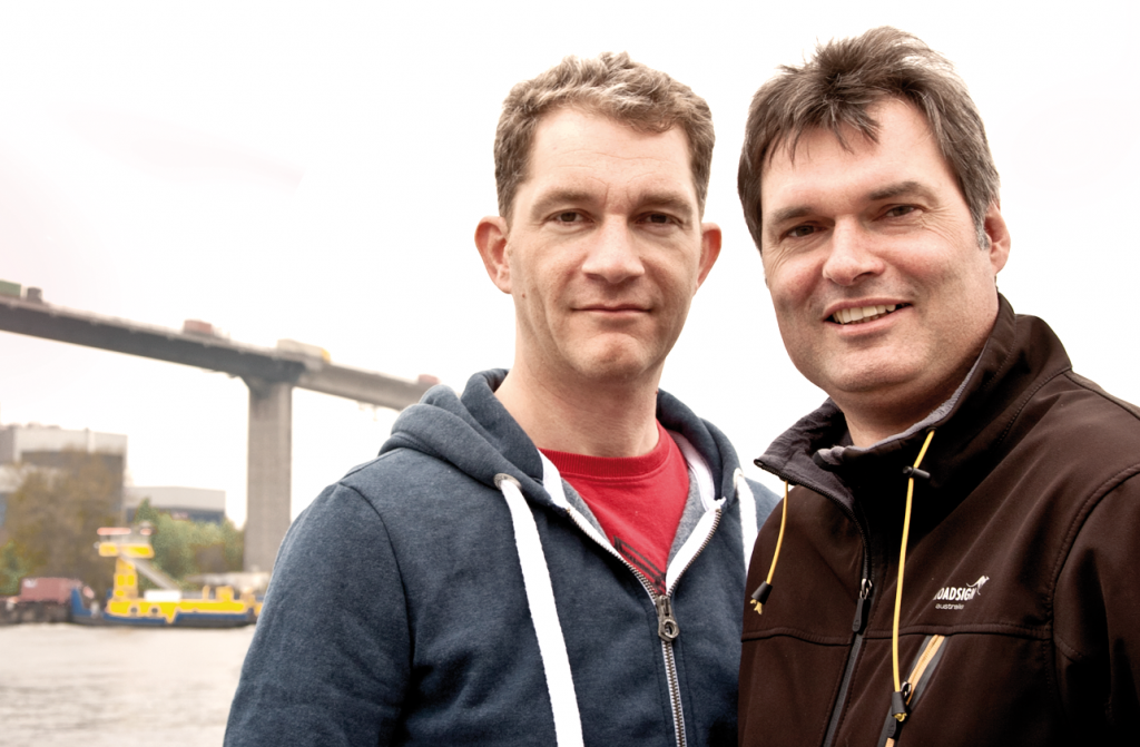Die Gründer: Stefan Hollmann (links) und Claus Fahlbusch (rechts) von shipcloud. (Quelle: shipcloud)
