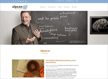 Relaunch der englischen zipcon Website