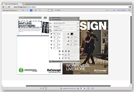 Indesign Template Files Available From An Online Shop The