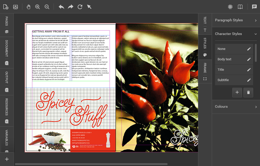 Extremely hot: the new Chili Publisher 5 0 online editor
