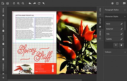 Beispiel-Vorschau für ein neues GUI, das mit Version 5.0 kommt; Quelle: chili-publish.com