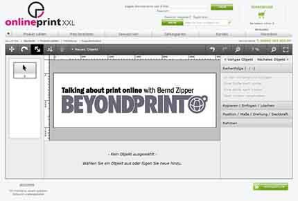 Editor im Shop von onlineprintxxl.com (A), Referenzkunde von Obility; Quelle: obility.de