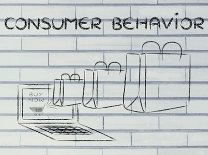 44802852 - consumer behavior on the web, illustration with shopping bags coming out of a computer screen