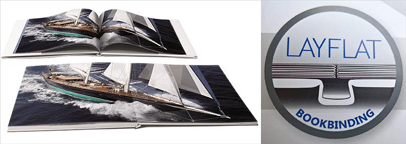 Der Betrachtungsvorteil beim Layflat-Fotobuch; Quelle: imagingsolutions.ch