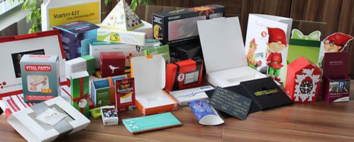 Verschiedene Verpackungsformate; Quelle: www.druckcenter.de