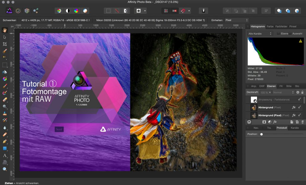 The switch from Photoshop et al to Affinity Photo does not involve much adjustment, according to many users; source: discovery-affinity-designer.com