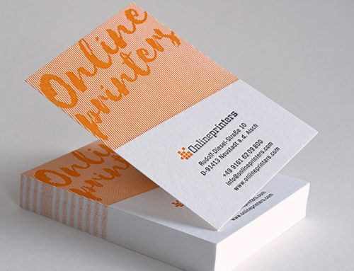 Kooperation: Letterpress-Visitenkarten von Letterjazz über Onlineprinters verfügbar