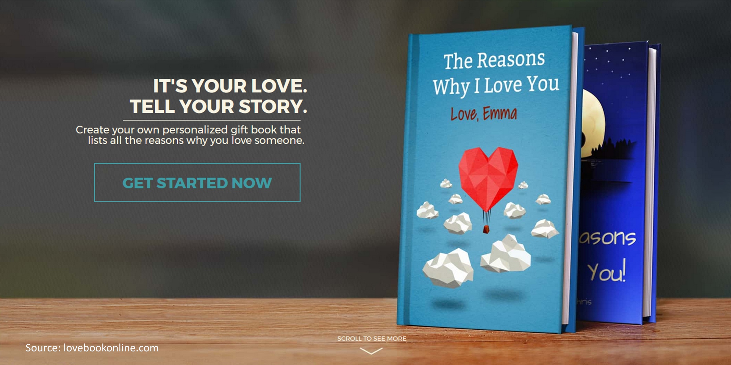 Lovebook: create your own book-format love messages online ...