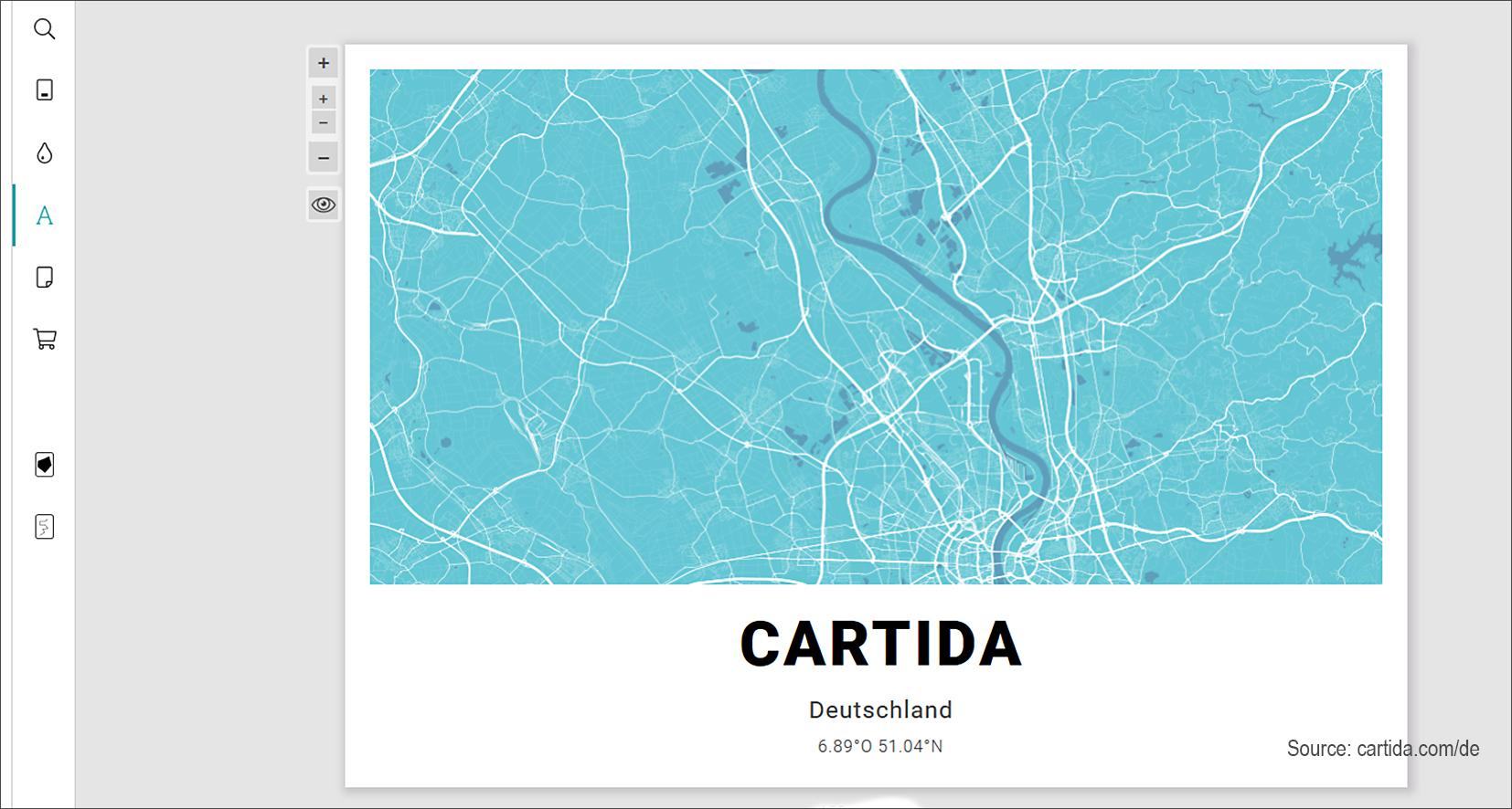 Cartida: Individualisierbare Karten-Kunstdrucke via Onlineshop