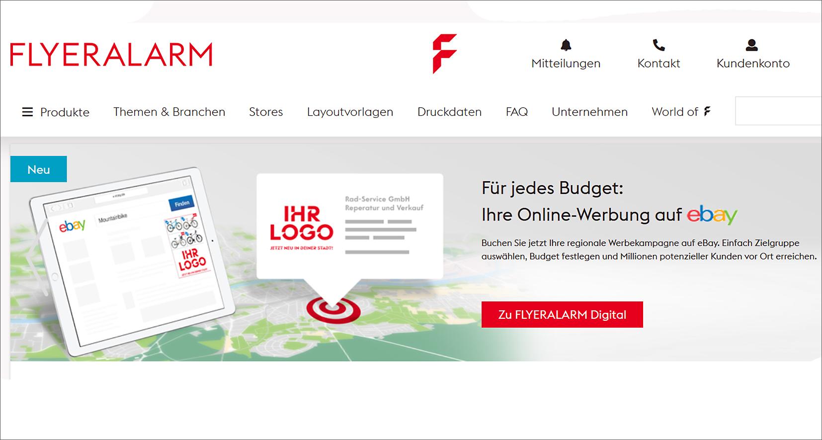 Flyeralarm: Onlineprinter macht gemeinsame Sache mit eBay