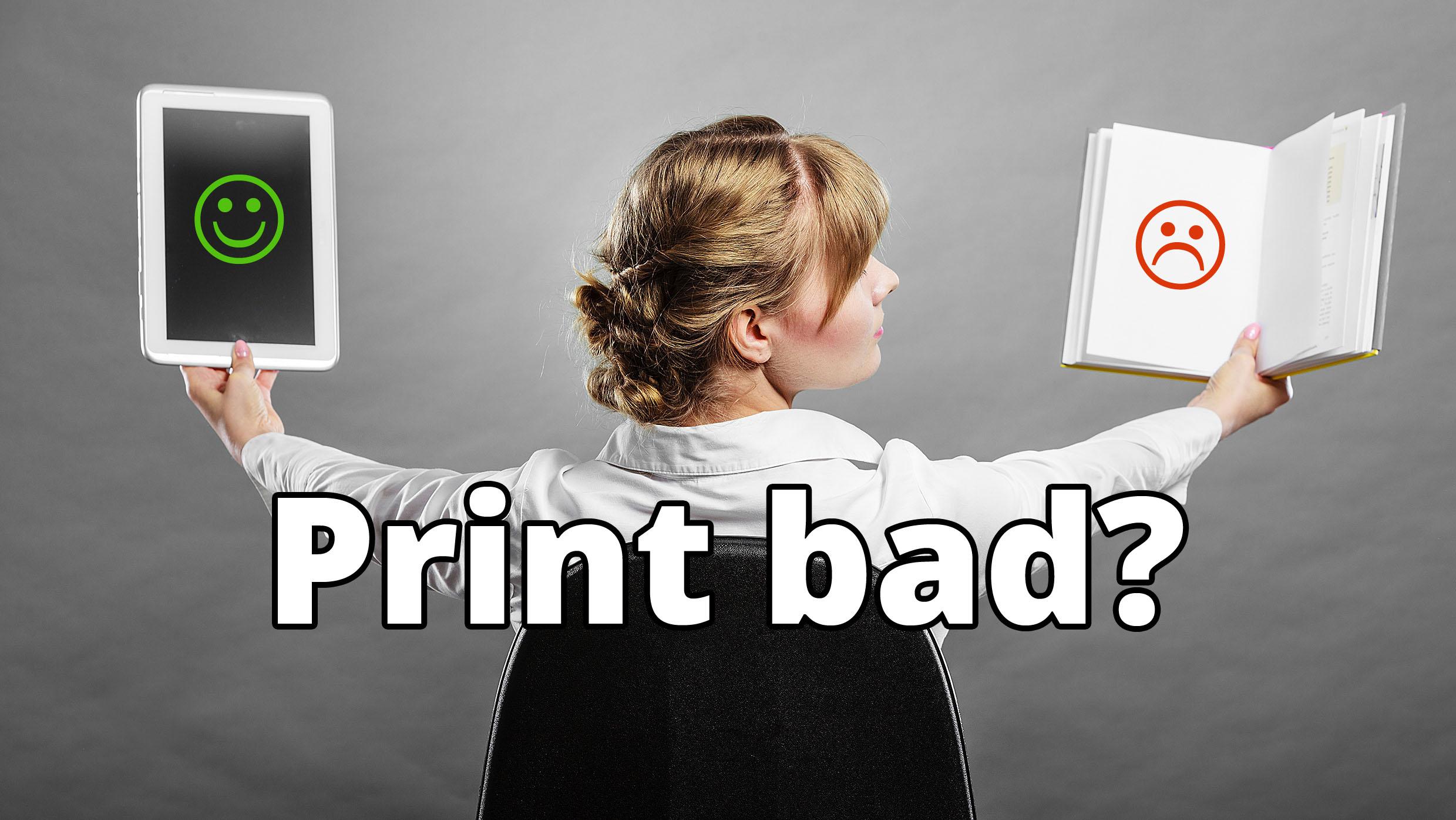 Umwelt: Print böse, digital gut?