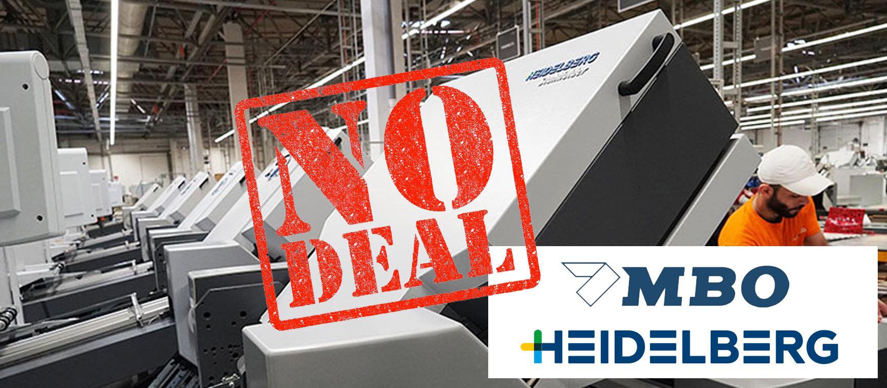 Übernahme: No Deal für MBO und Heidelberg