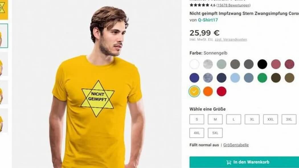 Markt: Spreadshirt entfernt geschmackloses Davidstern-Motiv